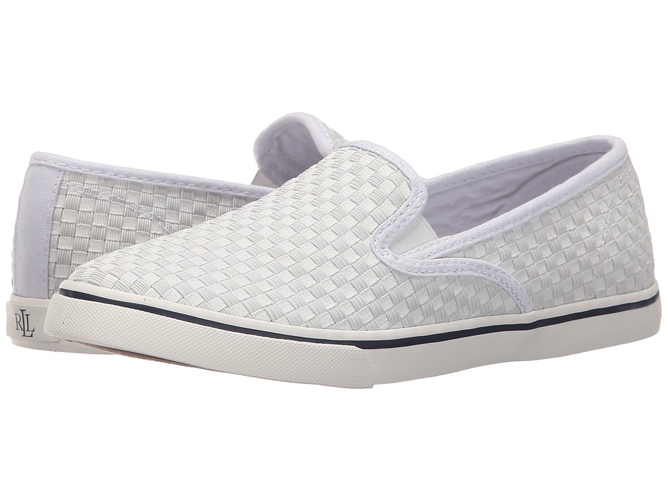 LAUREN Ralph Lauren - Janis (White Woven Cotton Cording) Women's Slip on Shoes