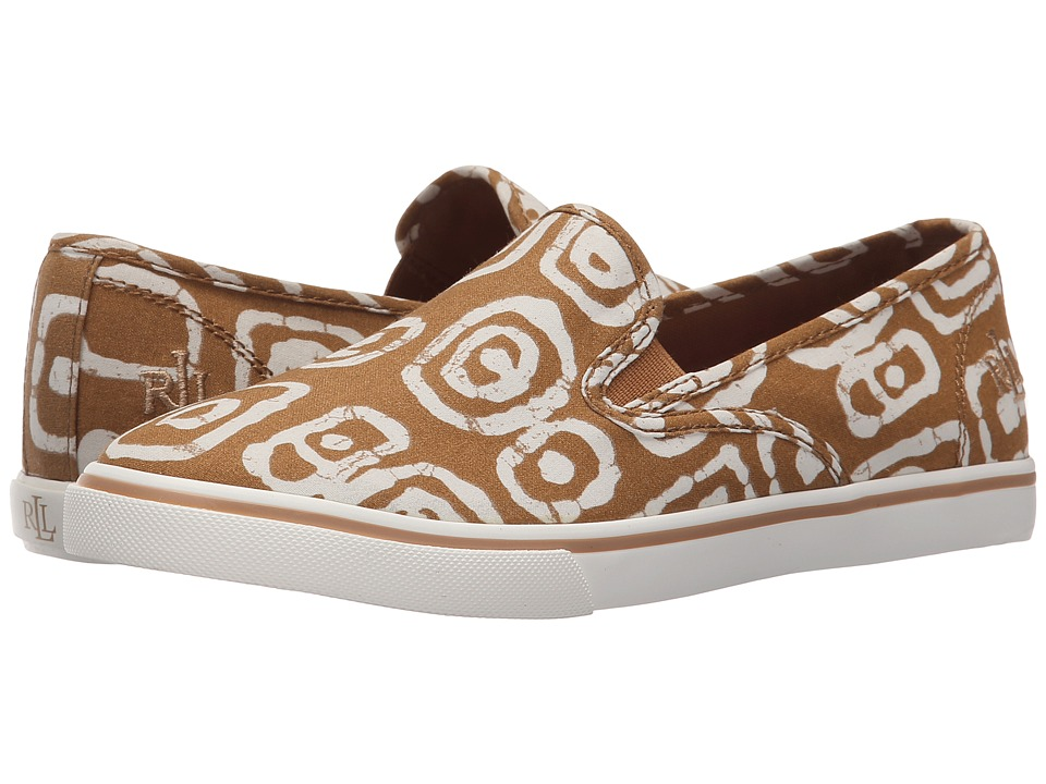 LAUREN Ralph Lauren - Janis (Toast/White Batik Tribal Cotton) Women's Slip on Shoes
