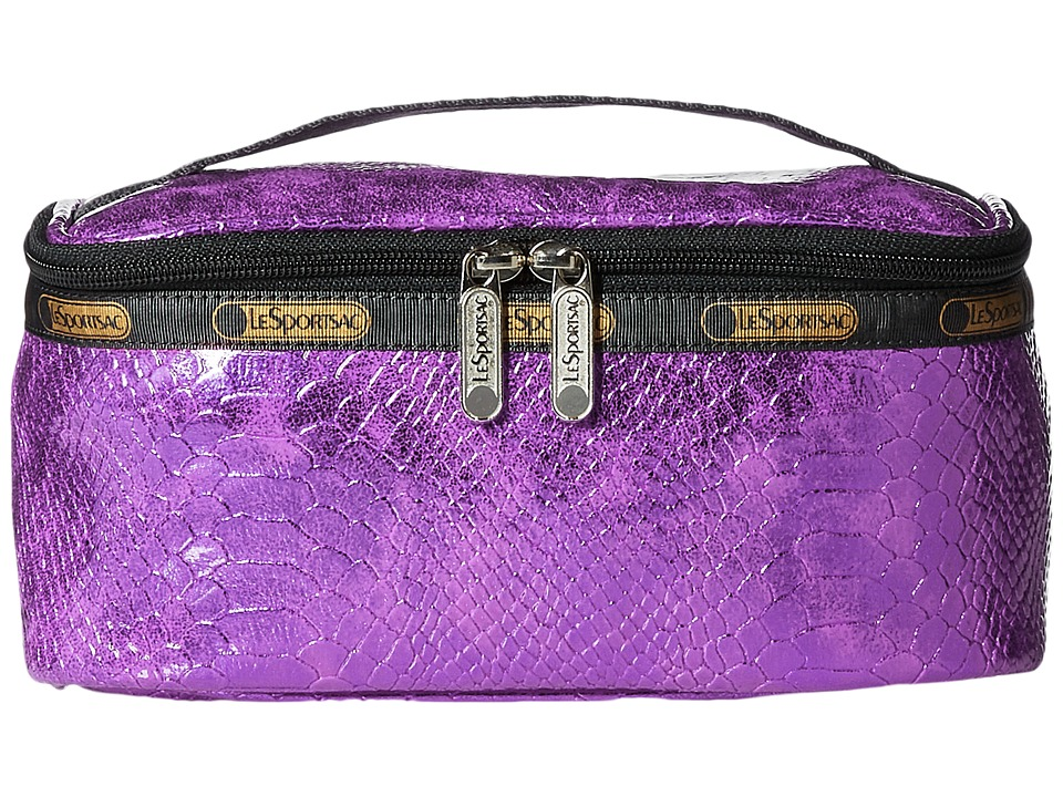 LeSportsac Luggage - Rectangular Train Case (Purple Snake) Cosmetic Case