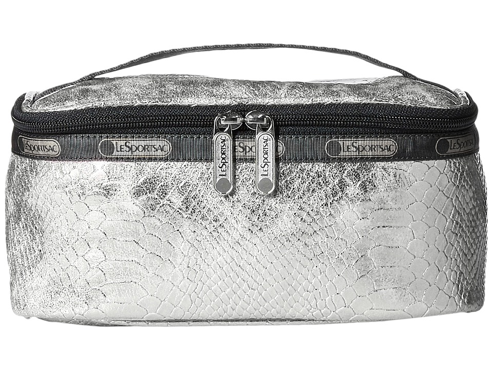 LeSportsac Luggage - Rectangular Train Case (Silver Snake) Cosmetic Case