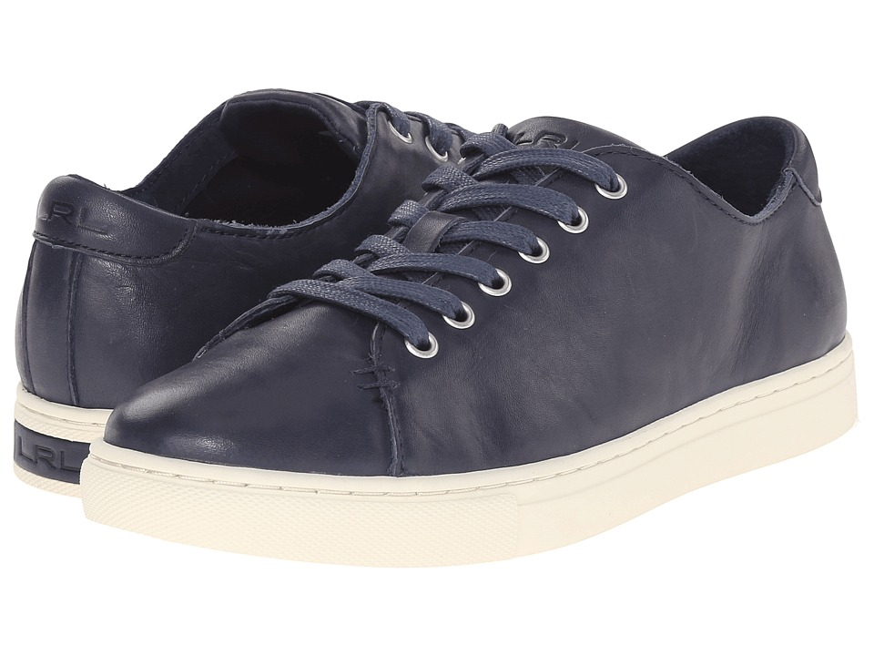 LAUREN Ralph Lauren - Waverly (Modern Navy Soft Burnished Calf) Women's Lace up casual Shoes