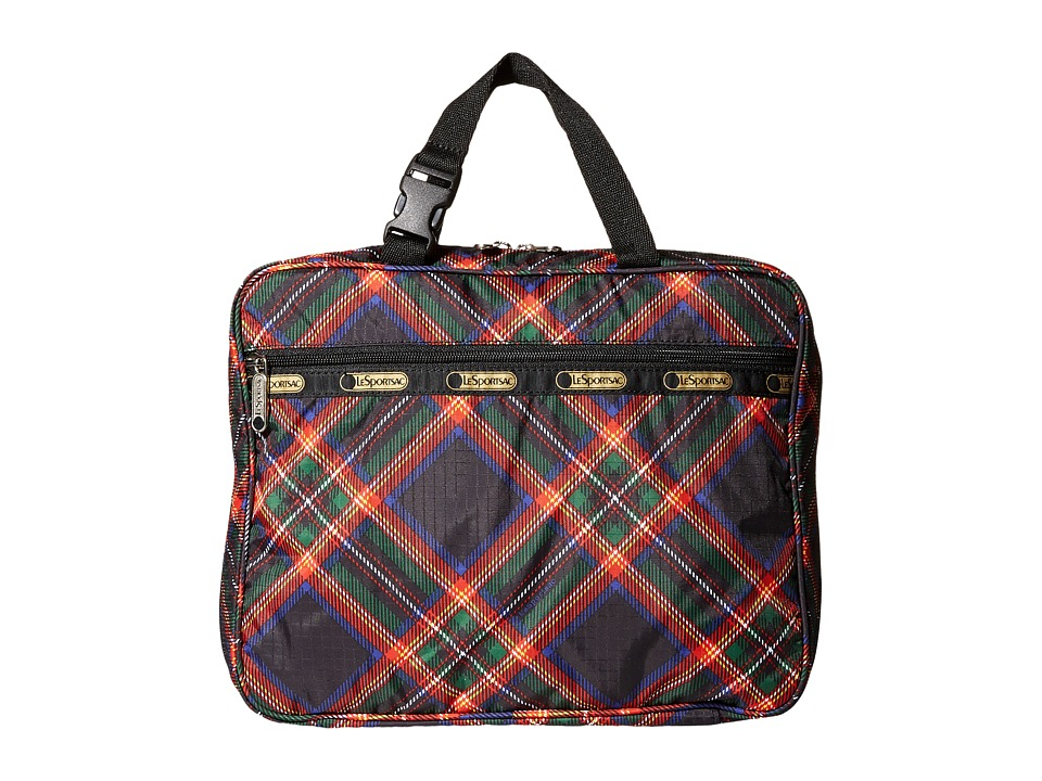 LeSportsac Luggage - Deluxe Travel Case (Cozy Plaid Black) Travel Pouch