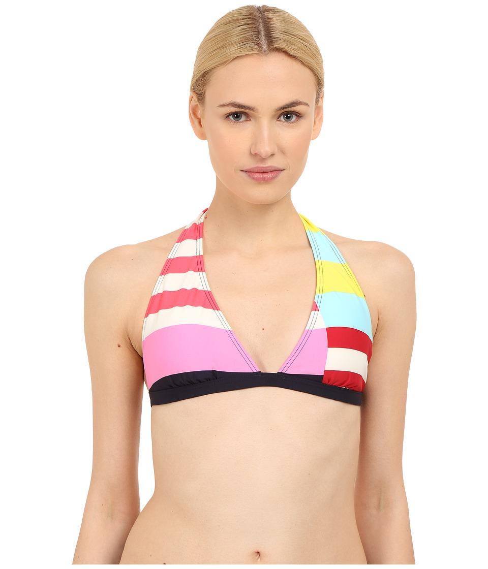Kate Spade New York - Balboa Island Halter Bra (Rich Navy) Women's Swimwear
