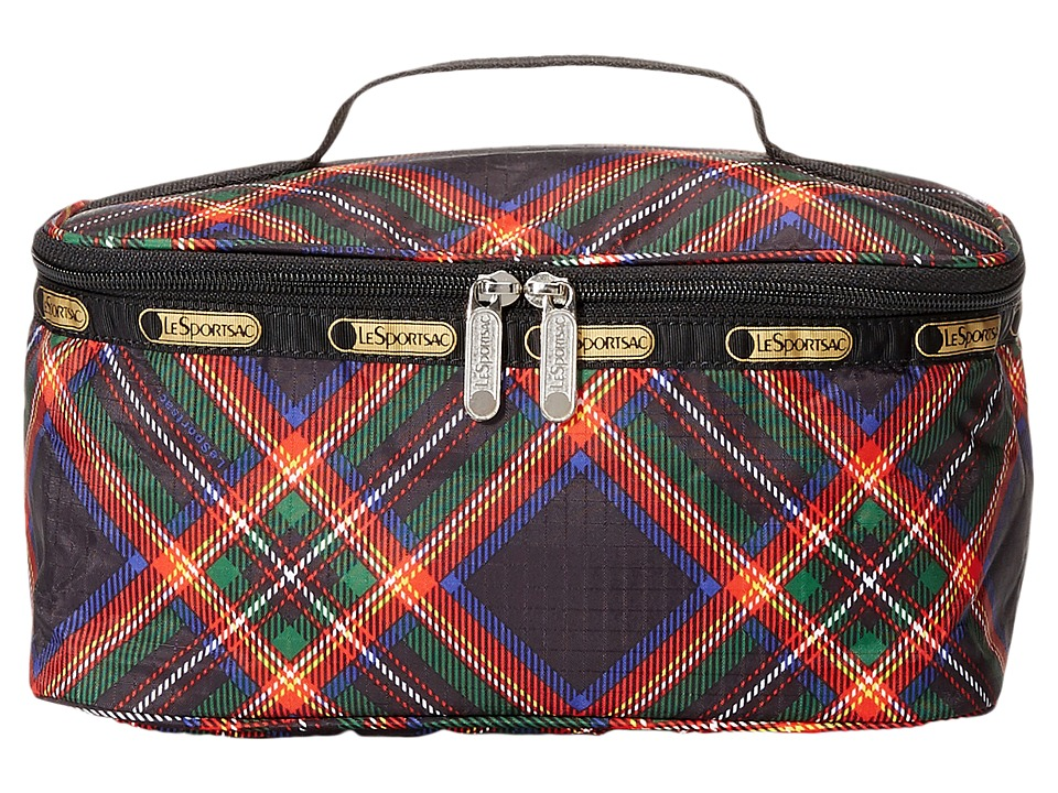 LeSportsac Luggage - Large Rectangular Train Case (Cozy Plaid Black) Cosmetic Case