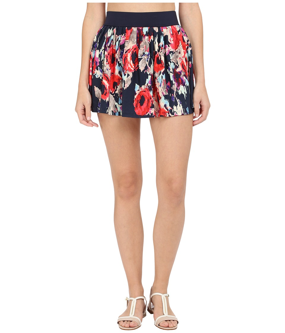 Kate Spade New York - Colombe D Or Pleated Skirt Cover-Up (Rich Navy) Women's Swimwear
