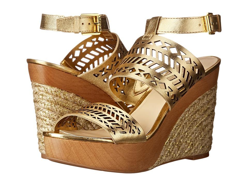 LAUREN Ralph Lauren - Georgina (RL Gold Metallic Kidskin) Women's Wedge Shoes