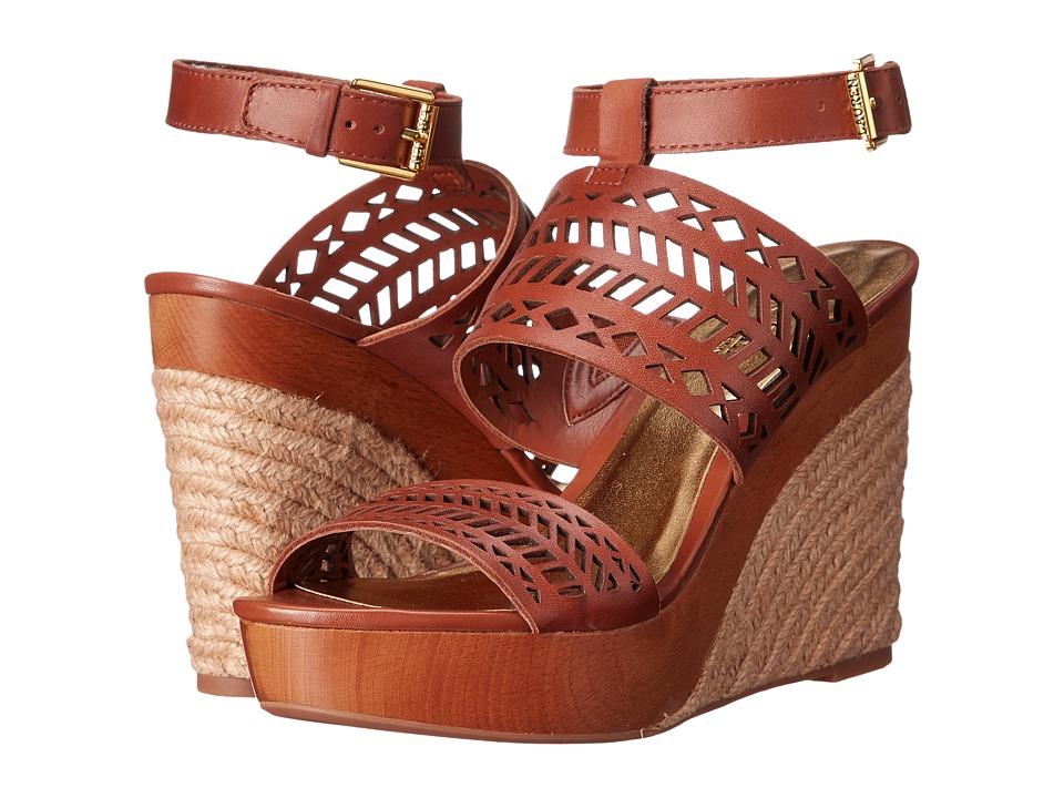 LAUREN Ralph Lauren - Georgina (Polo Tan Soft Burnished Calf) Women's Wedge Shoes