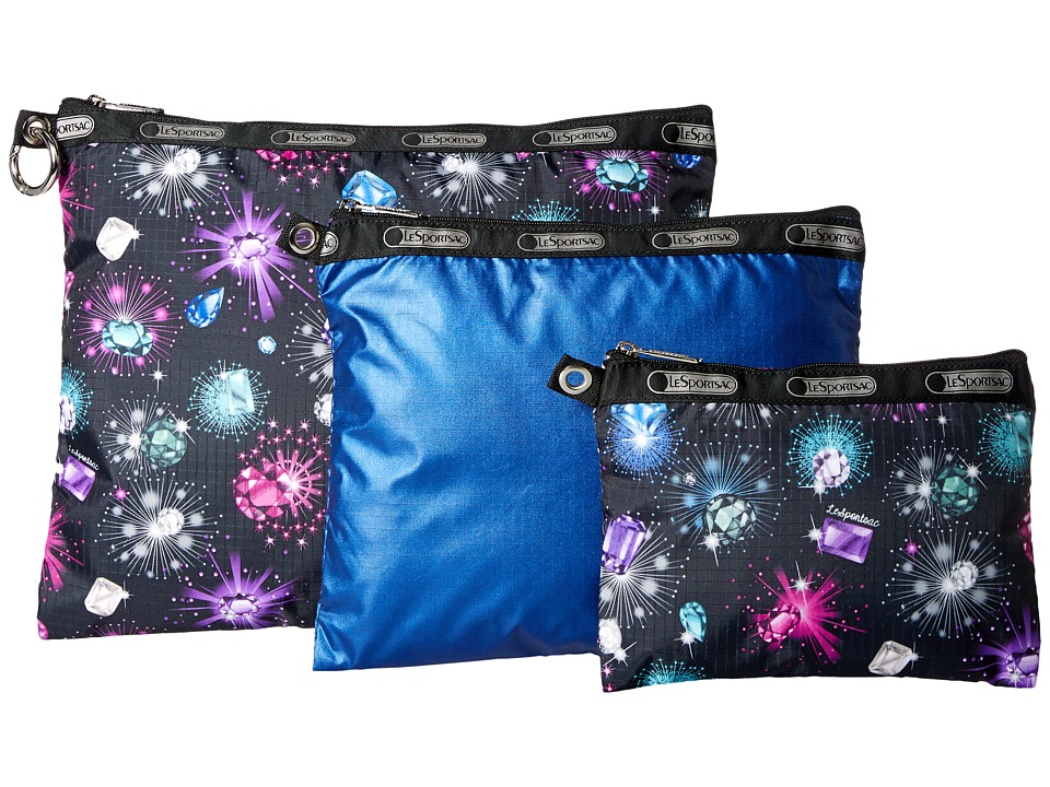 LeSportsac Luggage - 3 Piece Travel Set (Diamonds Multi) Travel Pouch