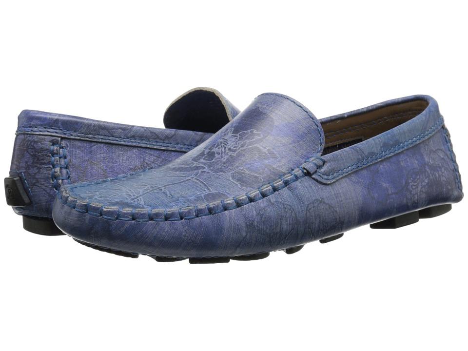 Robert Graham Verrazano 4 (Blue Floral Leather) Men