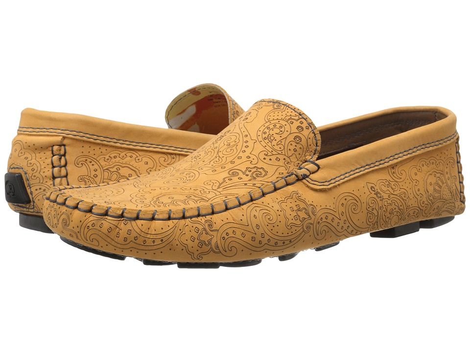 Robert Graham - Verrazano (Yellow Laser Paisley Nubuck) Men's Slip on Shoes