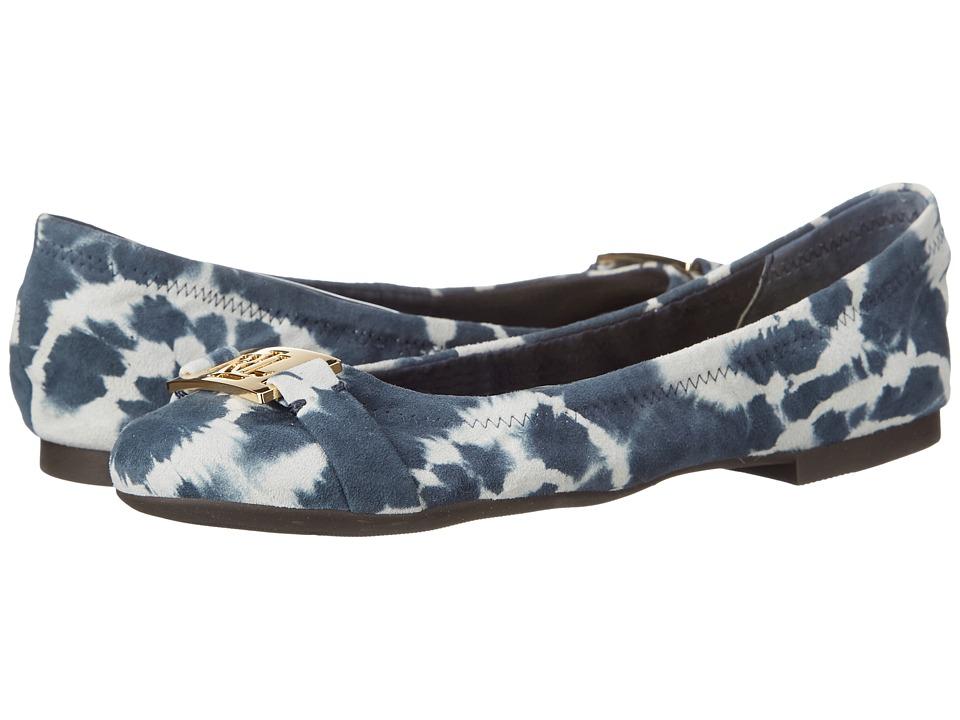 LAUREN Ralph Lauren - Betty (Navy Tyedye Leather) Women's Flat Shoes