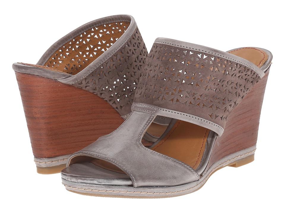 Trask - Payton (Gray Italian Waxed Calfskin/Charcoal Italian Kid Suede) High Heels