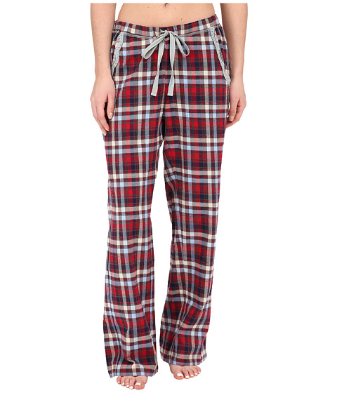 Dylan by True Grit - Flannel Sleepwear Pants w/ Heather Knit Vintage Plaid (Multi Indigo/Grey) Women's Pajama