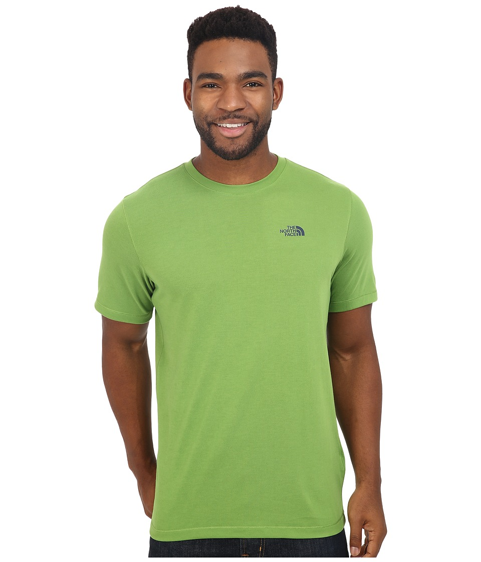 The North Face Short Sleeve Crag Crew (Vibrant Green) Men