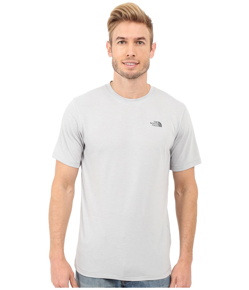 The North Face Short Sleeve Crag Crew (TNF Light Grey Heather) Men
