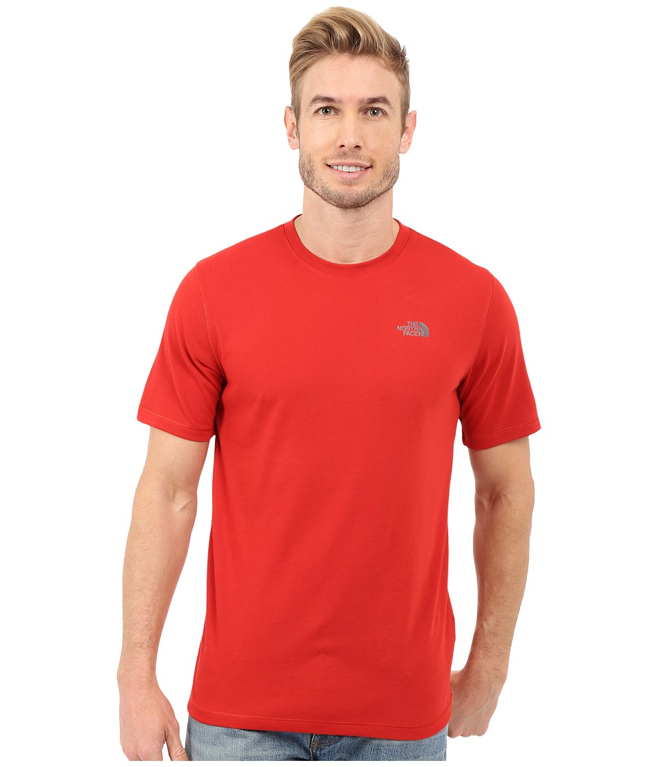 The North Face Short Sleeve Crag Crew (Pompeian Red) Men
