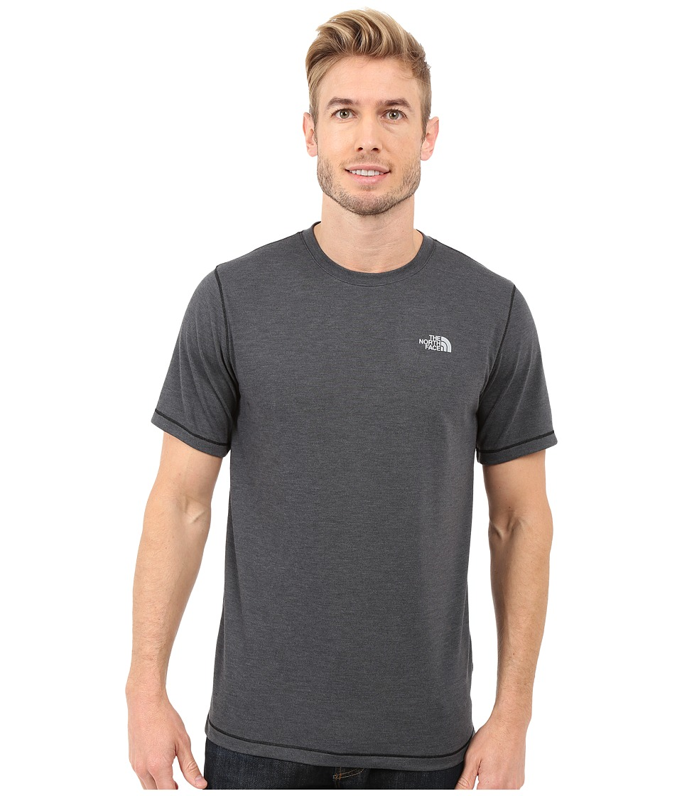 The North Face - Short Sleeve Crag Crew (TNF Dark Grey Heather) Men