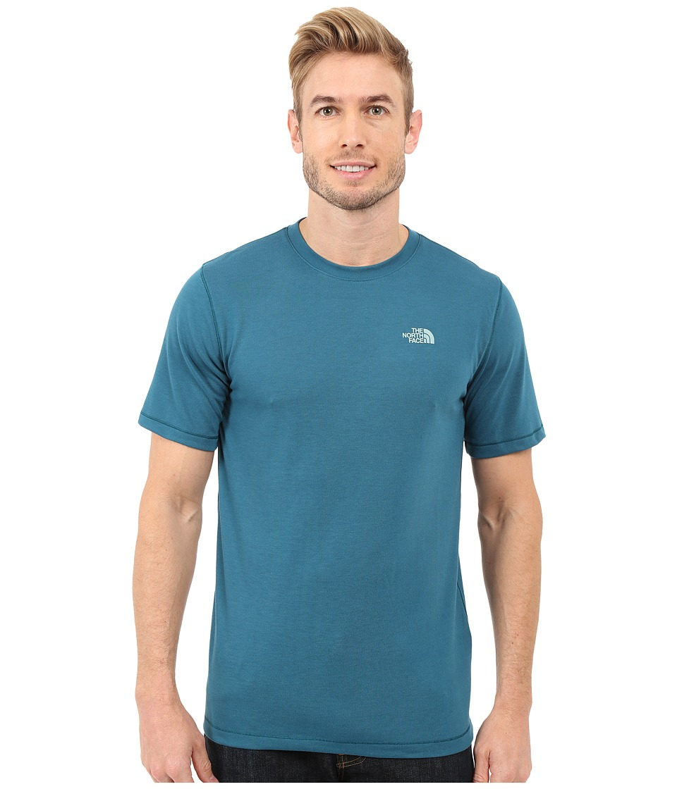 The North Face Short Sleeve Crag Crew (Blue Coral) Men