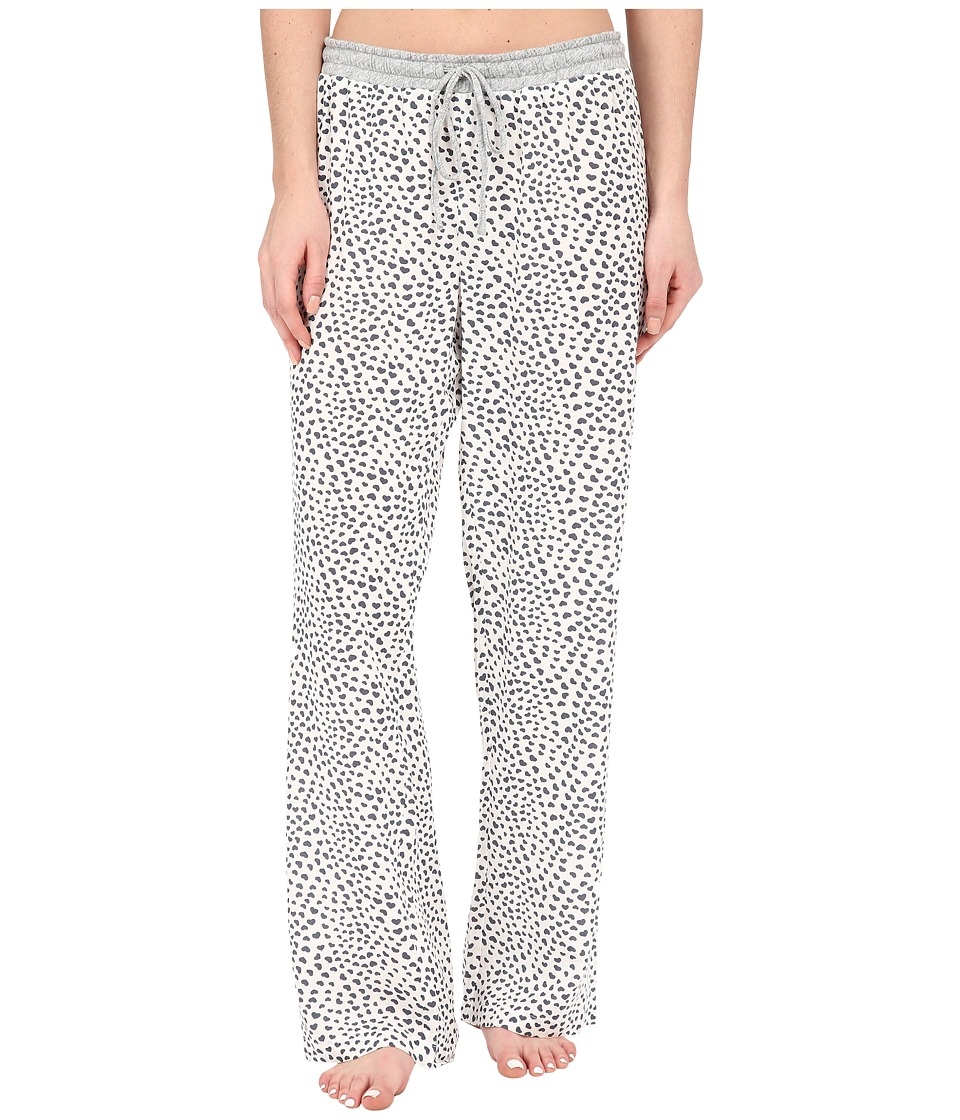 Dylan by True Grit - Love Hearts PJ Pants (Vintage White) Women