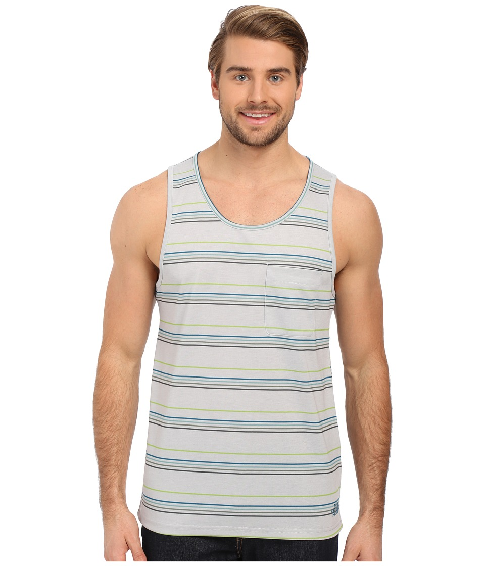 The North Face - Crag Tank Top (TNF Light Grey Heather Stripe) Men's Sleeveless
