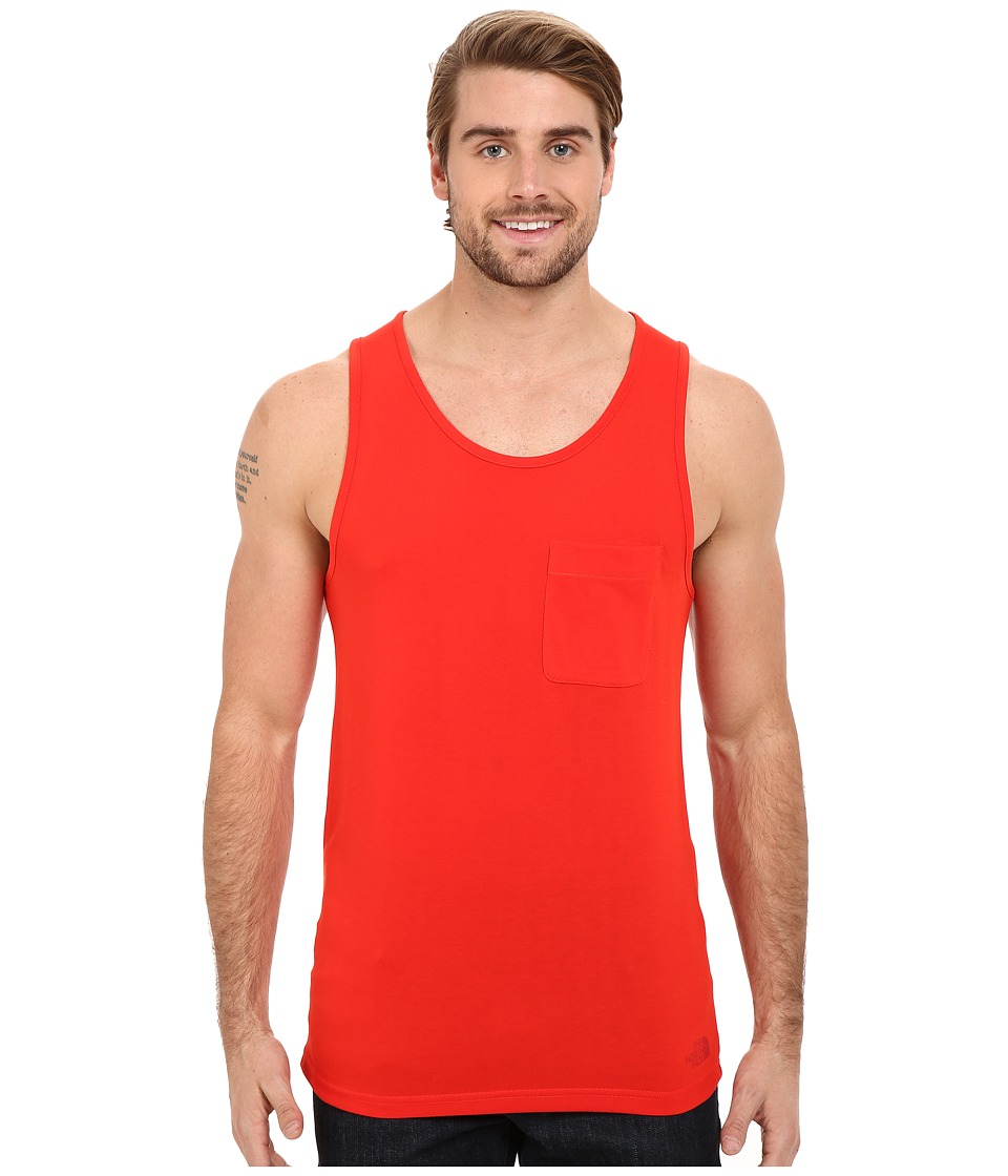 The North Face - Crag Tank Top (Fiery Red) Men's Sleeveless