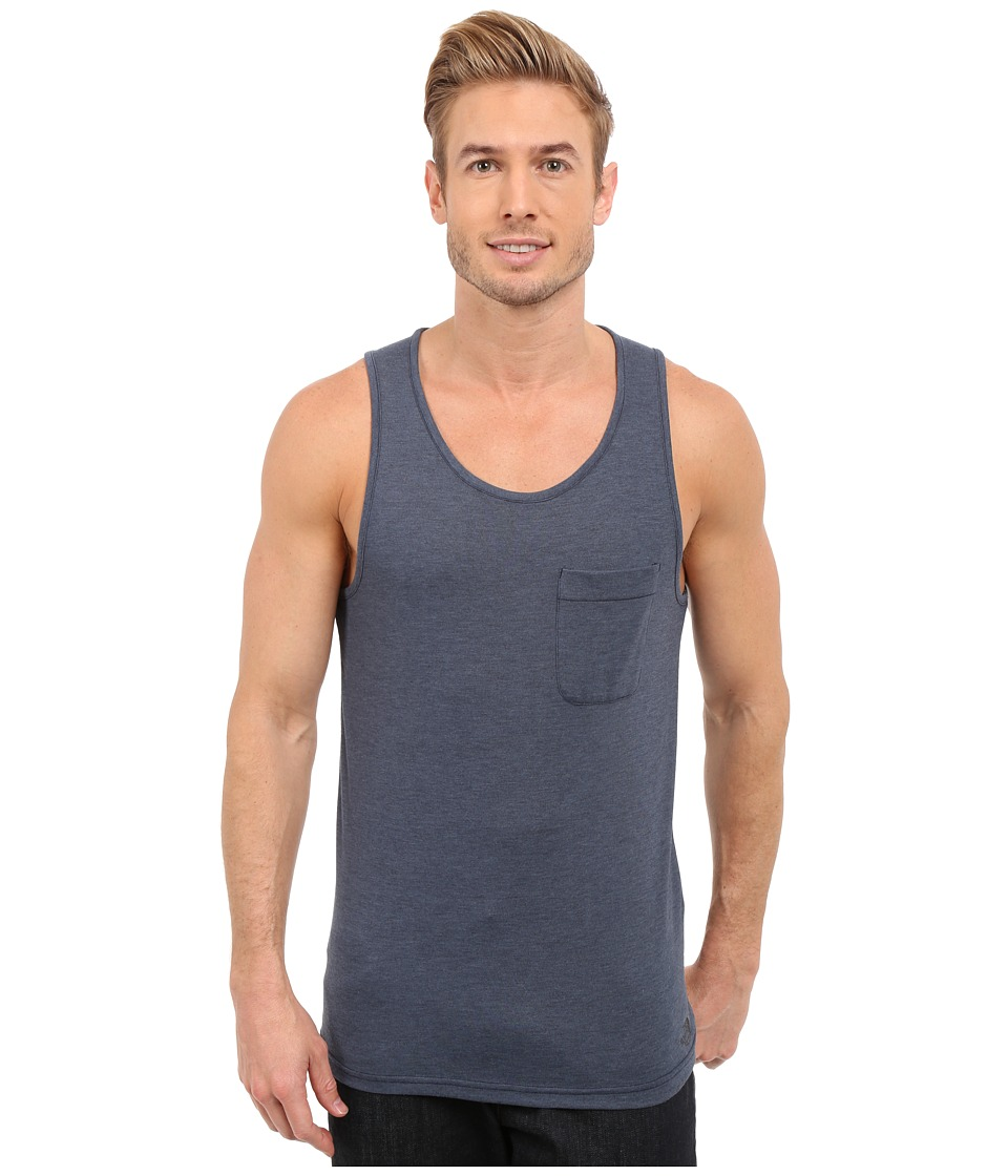 The North Face - Crag Tank Top (Cosmic Blue Heather) Men's Sleeveless