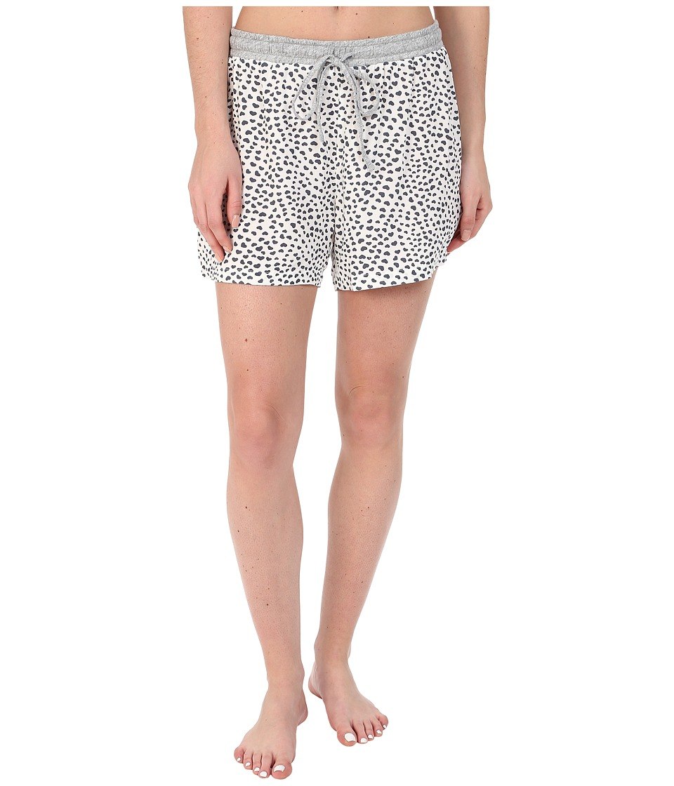 Dylan by True Grit - Love Hearts Boxer Shorts (Vintage White) Women's Pajama