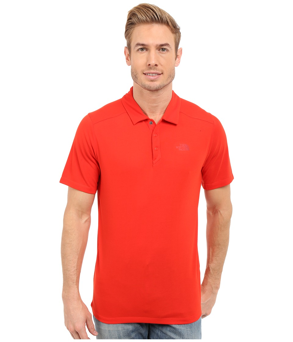 The North Face - Short Sleeve Crag Polo (Fiery Red) Men's Short Sleeve Knit