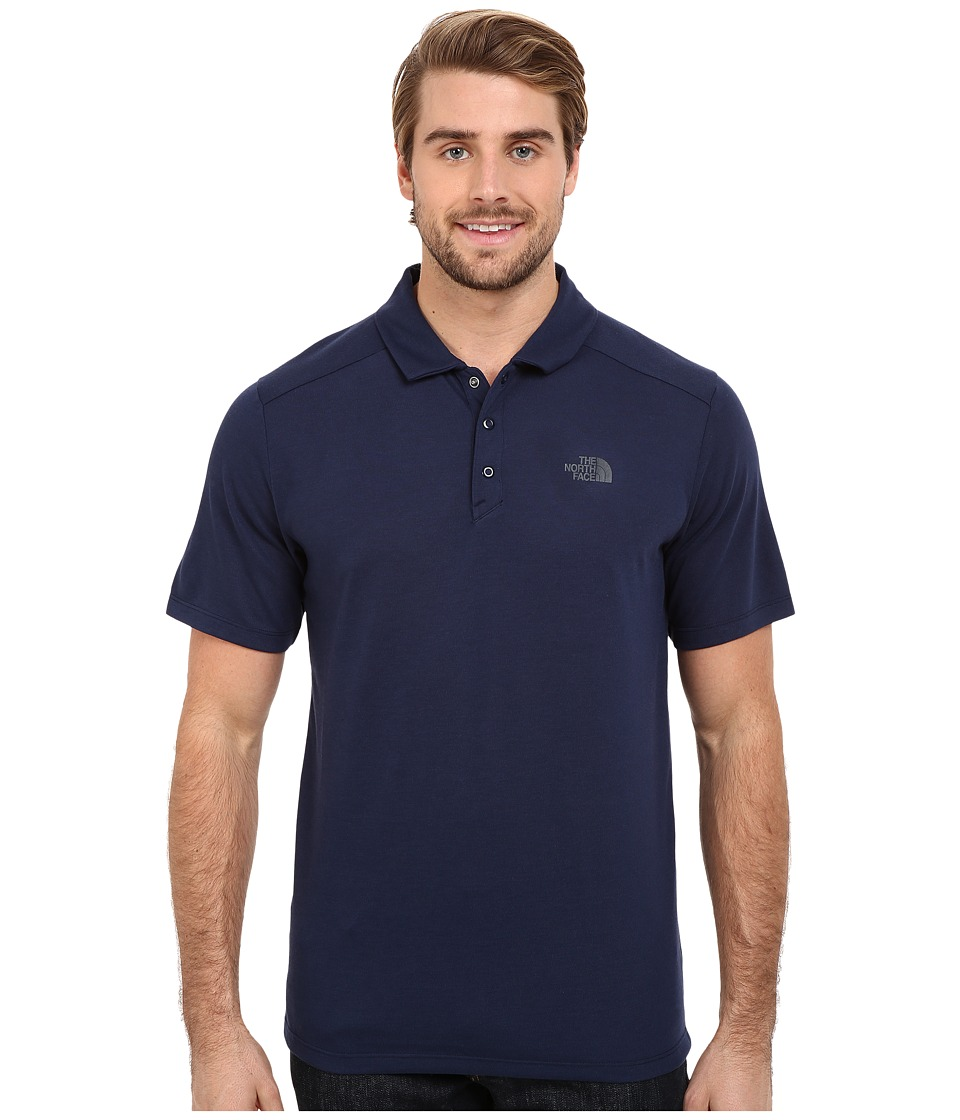 The North Face - Short Sleeve Crag Polo (Cosmic Blue) Men's Short Sleeve Knit