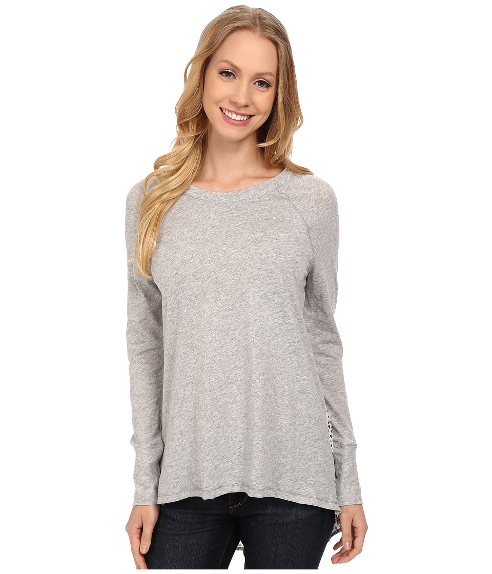 Dylan by True Grit - Heather Knit Pullover w/ Love Hearts Back (Vintage White) Women's T Shirt