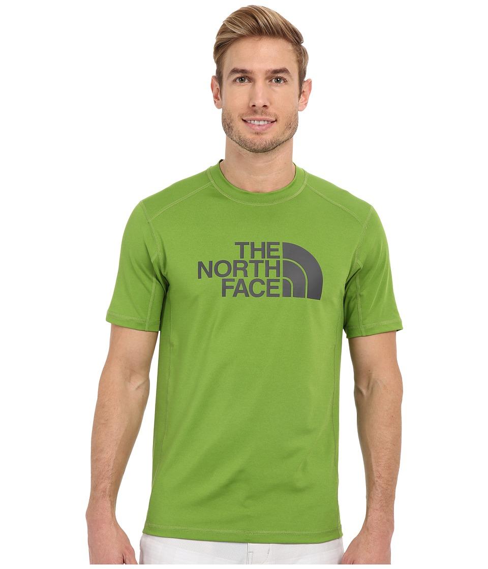 The North Face - Short Sleeve Sink or Swim Rashguard (Vibrant Green/Asphalt Grey) Men's Swimwear