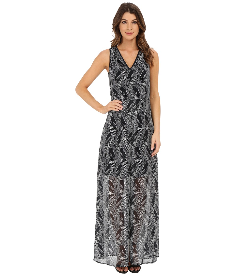 MICHAEL Michael Kors - Burrel A-Line Maxi (New Navy) Women's Dress