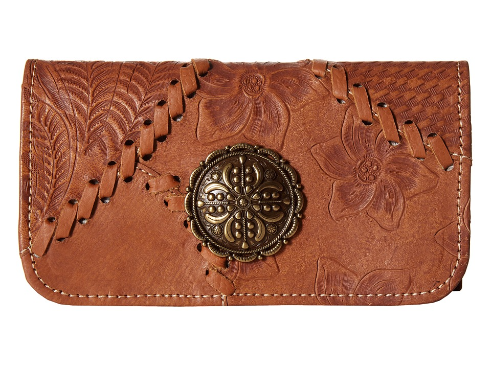 American West - Soho Groove Tri-Fold Wallet (Golden Tan) Wallet Handbags