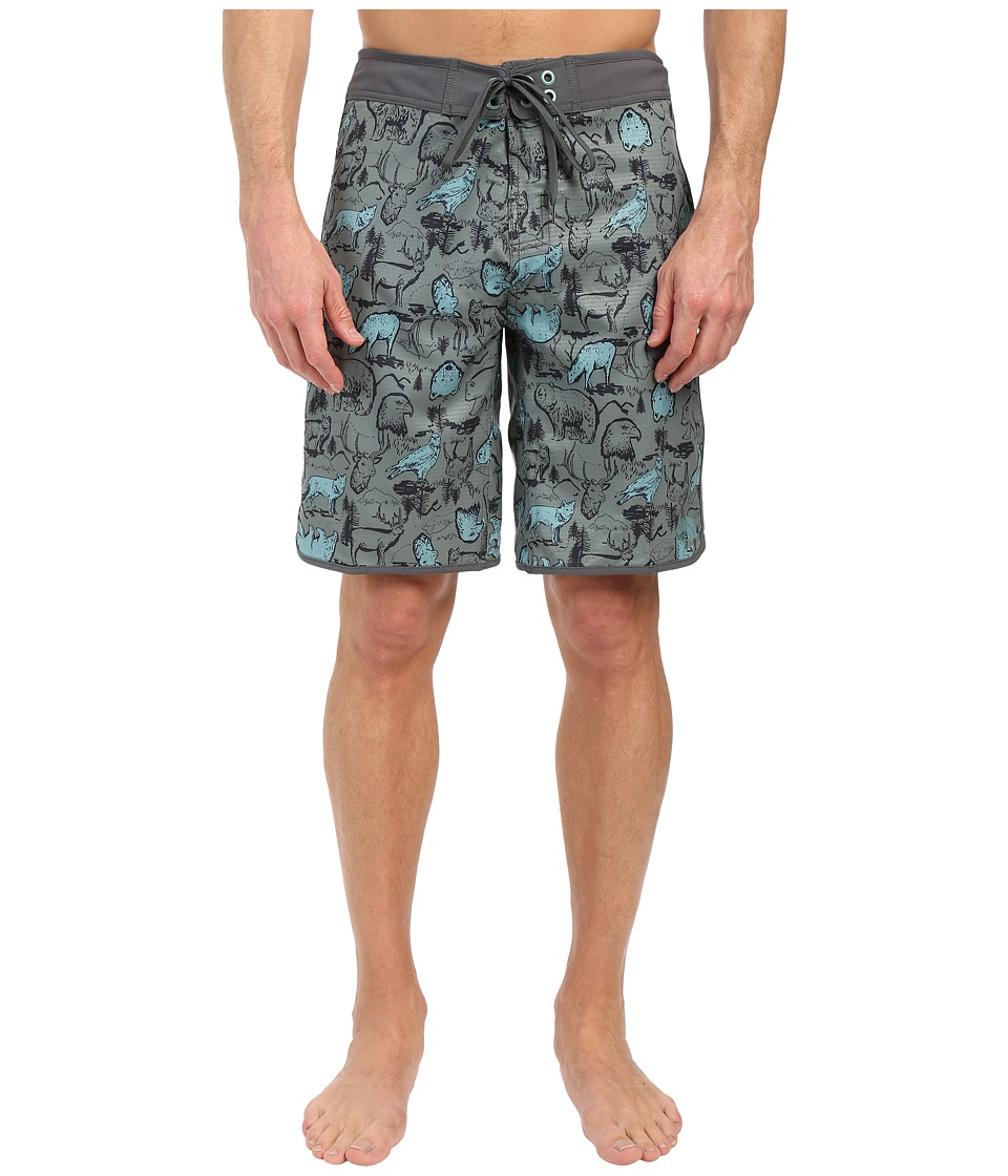 The North Face - Whitecap Boardshorts (Laurel Wreath Green Wildlife Print) Men's Swimwear