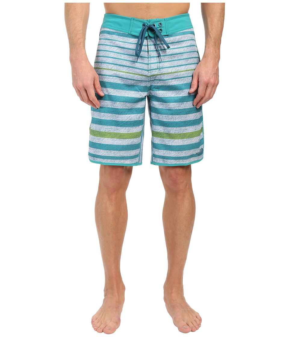 The North Face Whitecap Boardshorts (Vibrant Green Chambray Stripe) Men