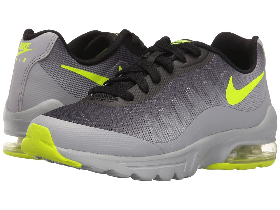 Nike Kids - Air Max Invigor (Big Kid) (Wolf Grey/Black/Volt) Boys Shoes