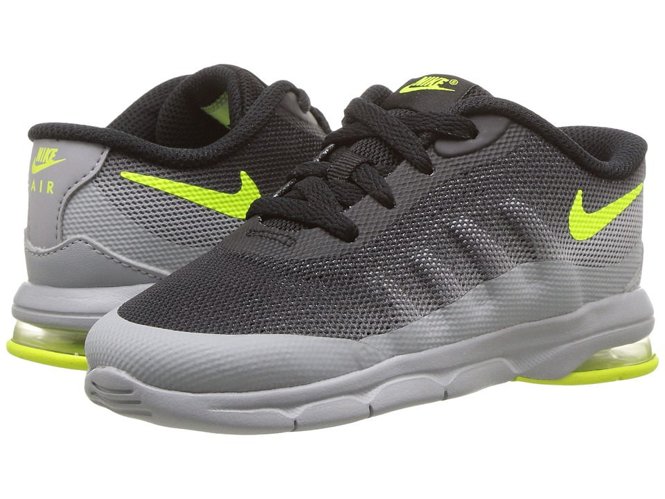Nike Kids - Air Max Invigor (Infant/Toddler) (Wolf Grey/Black/Volt) Kids Shoes