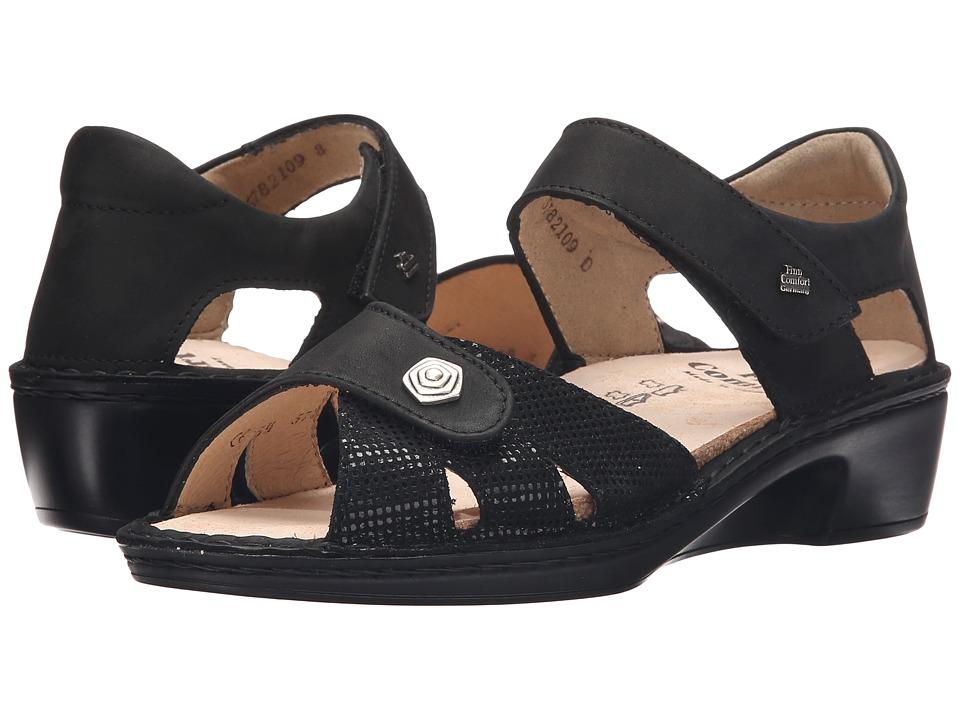 Finn Comfort - Easton (Black) Women's Shoes