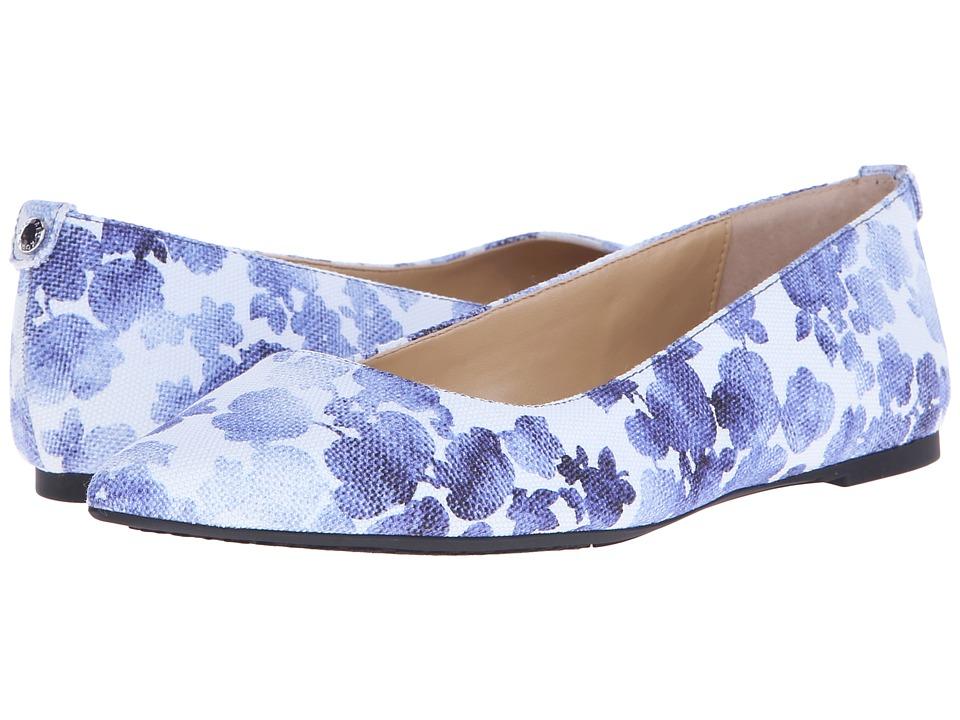 MICHAEL Michael Kors Arianna Flat (Blue Printed Canvas Floral) Women