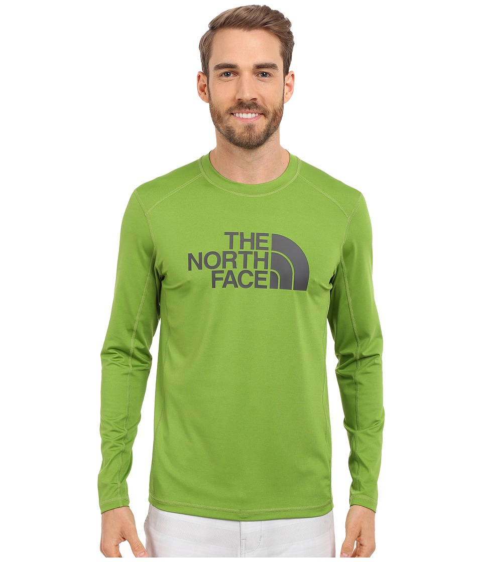 The North Face Long Sleeve Sink or Swim Rashguard (Vibrant Green/Asphalt Grey) Men