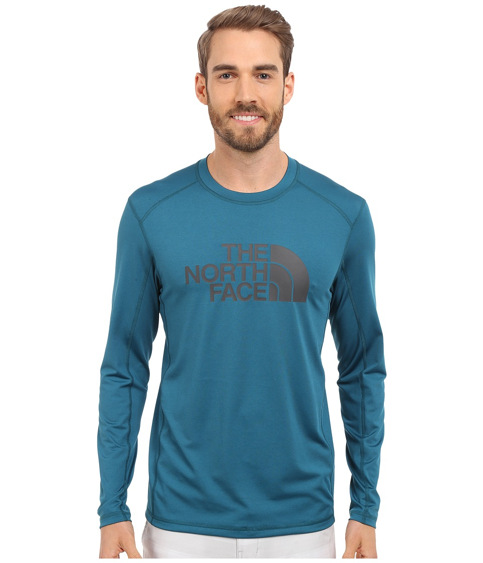 The North Face Long Sleeve Sink or Swim Rashguard (Blue Coral/Asphalt Grey) Men