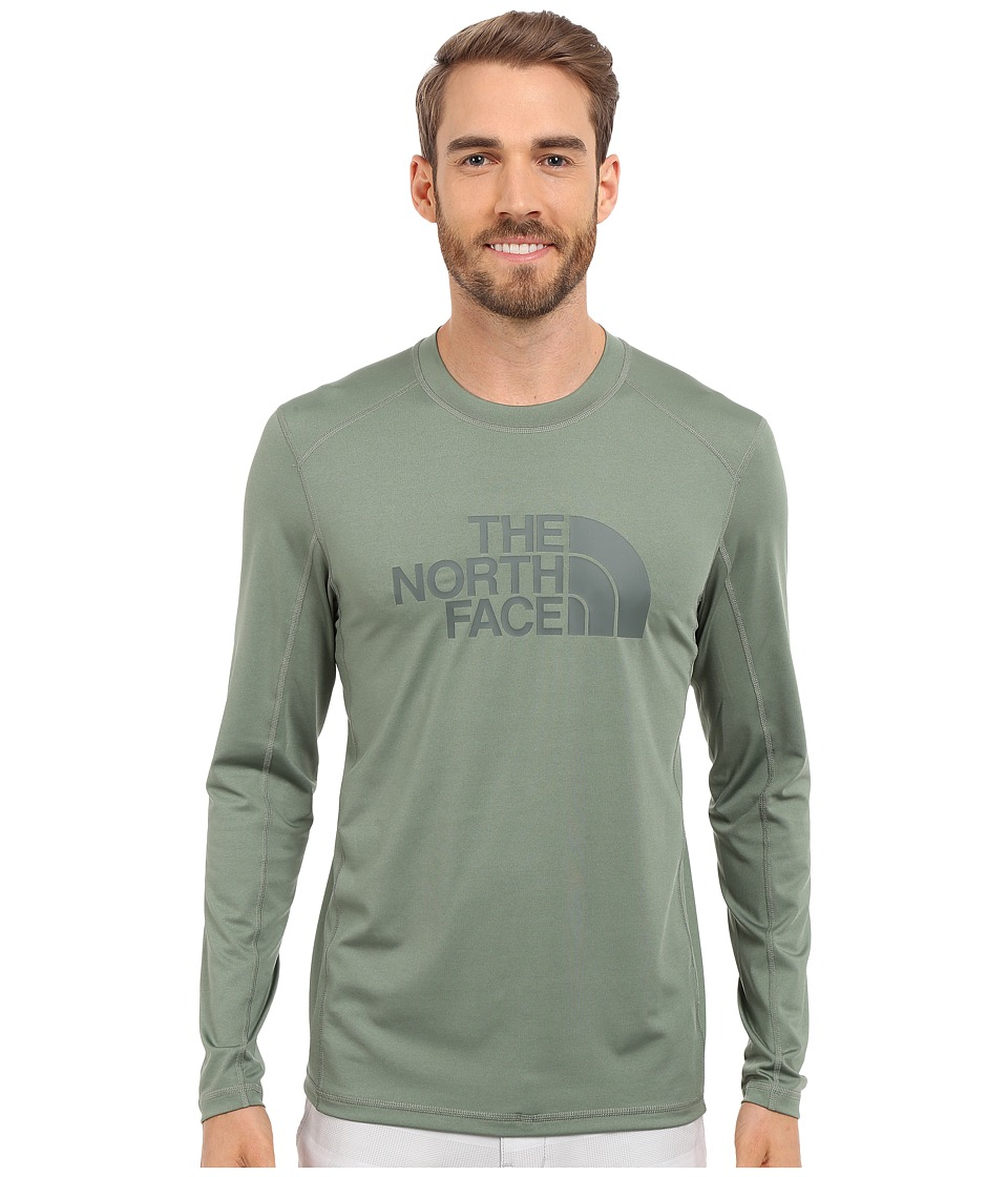 The North Face Long Sleeve Sink or Swim Rashguard (Laurel Wreath Green/Spruce Green) Men
