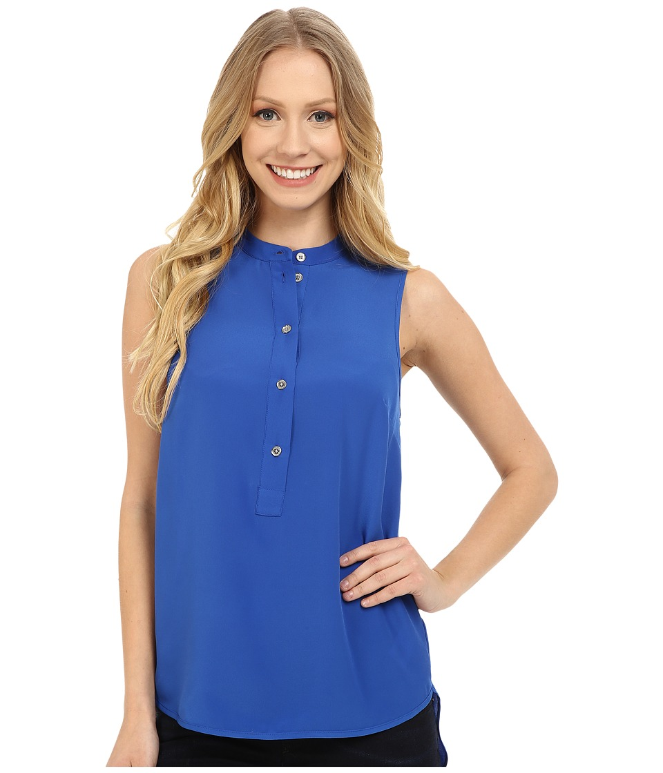 MICHAEL Michael Kors - Henley Sleeveless Top (Amalfi Blue) Women's Sleeveless