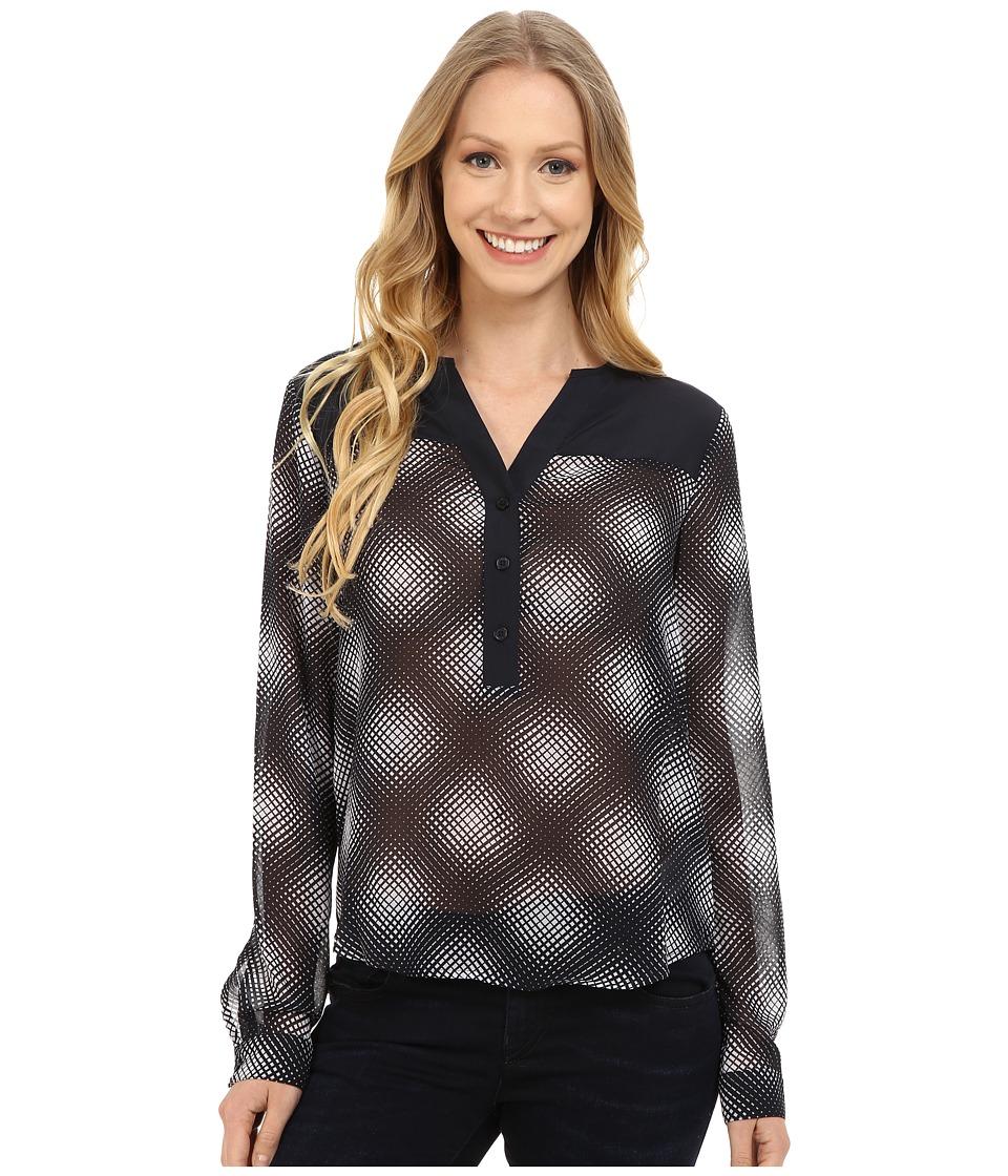 MICHAEL Michael Kors - Mystic Henley Top (New Navy) Women's Clothing