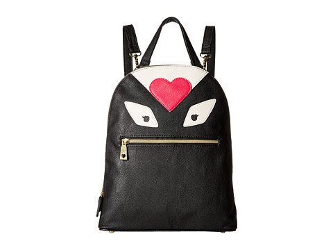 Betsey Johnson - Monster Love Medium Backpack (Black) Backpack Bags