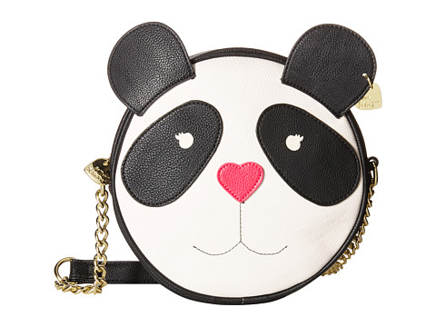 Betsey Johnson - Panda Canteen (Black) Cross Body Handbags