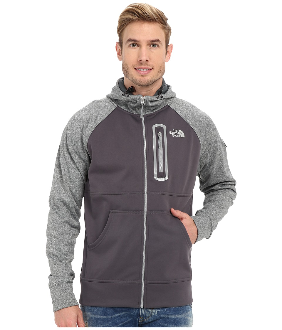 The North Face - Mack Mays Full Zip Hoodie (Graphite Grey/Spruce Green Heather) Men's Sweatshirt