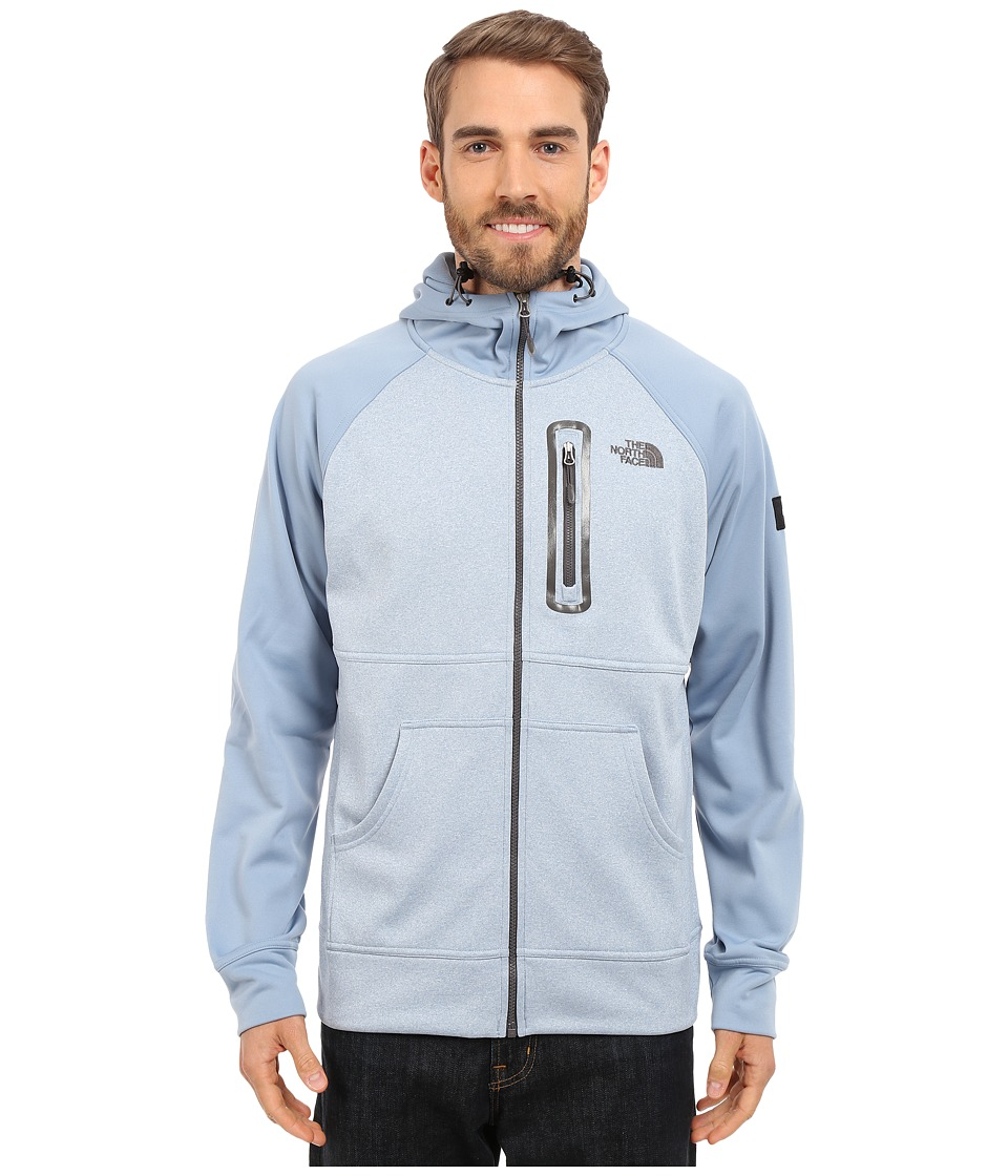 The North Face - Mack Mays Full Zip Hoodie (Faded Denim Heather/Faded Denim) Men's Sweatshirt