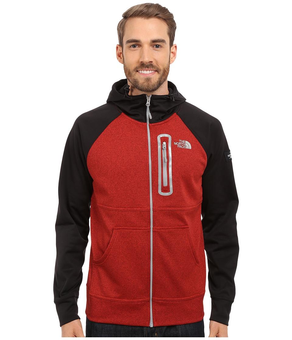 The North Face - Mack Mays Full Zip Hoodie (Pompeian Red Heather/TNF Black) Men's Sweatshirt