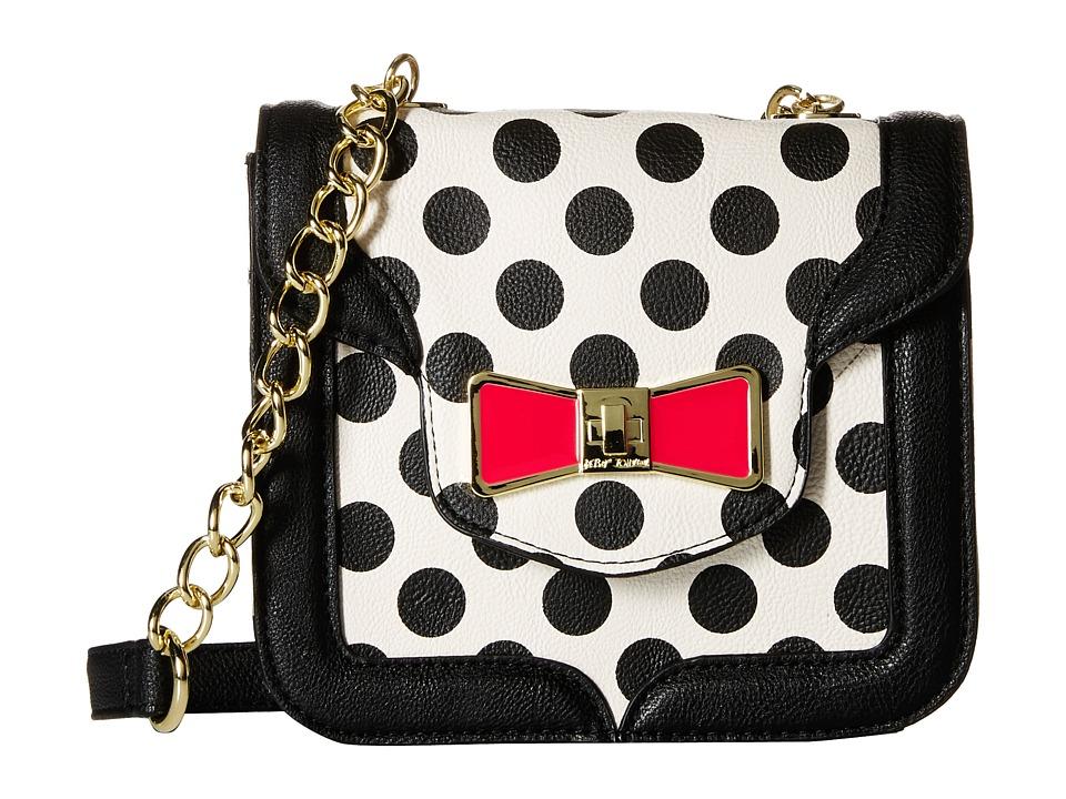 Betsey Johnson - Princess Sparkle Shoulder Bag (Polka Dot) Cross Body Handbags